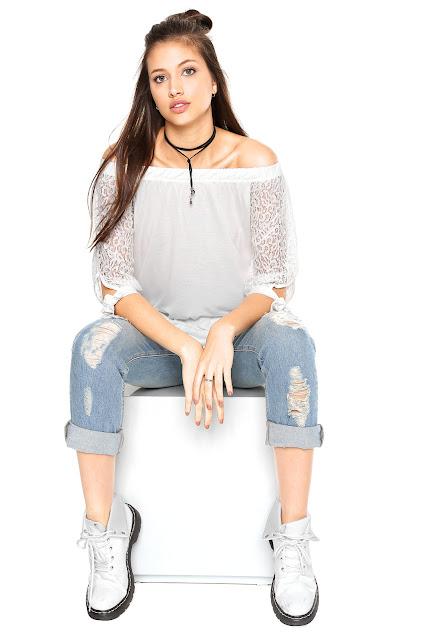 Moda Blusa Sofie Renda Branca