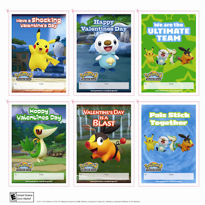 Pokémon Printable Valentine's Cards