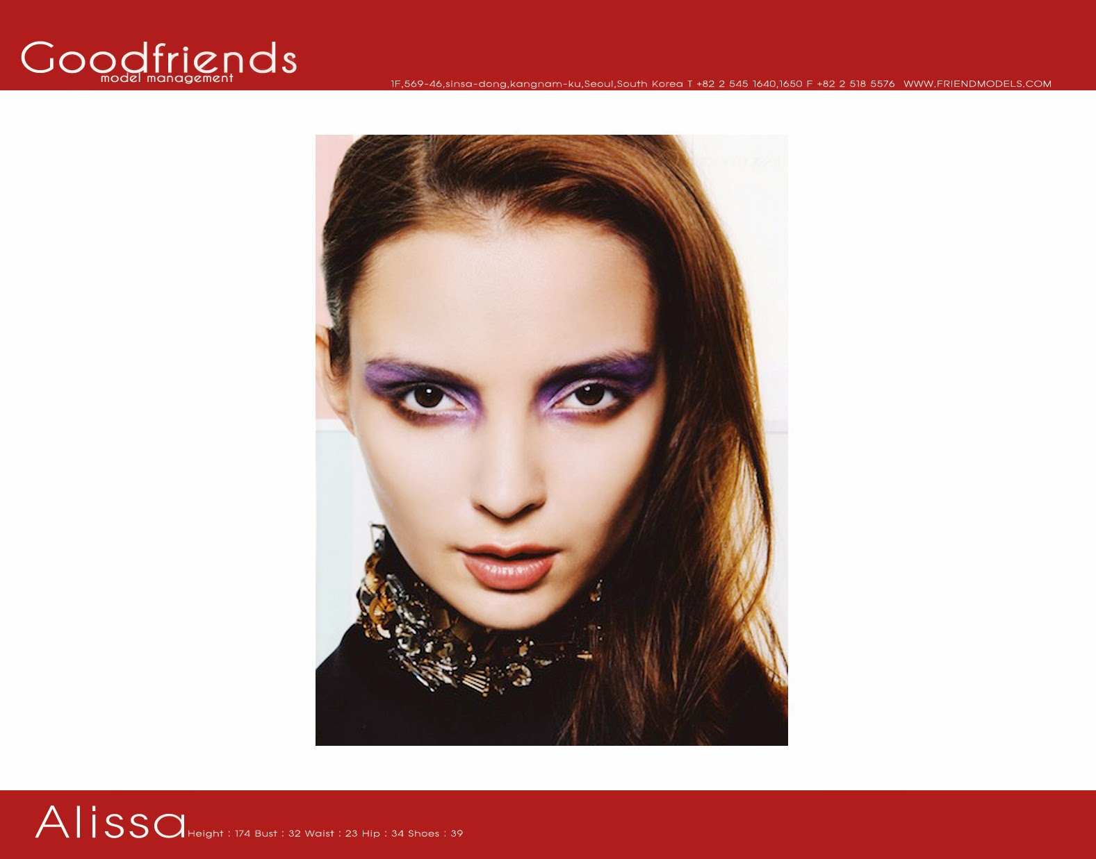 Goodfriends Model: Alissa For Comp Card In Korea