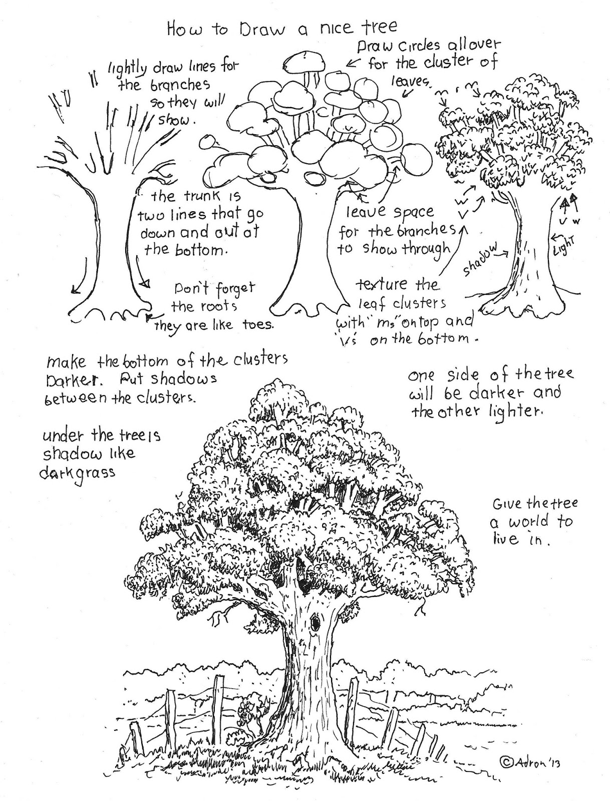 worksheet The Giving Tree Worksheets how to draw worksheets for the young artist a nice tree worksheet