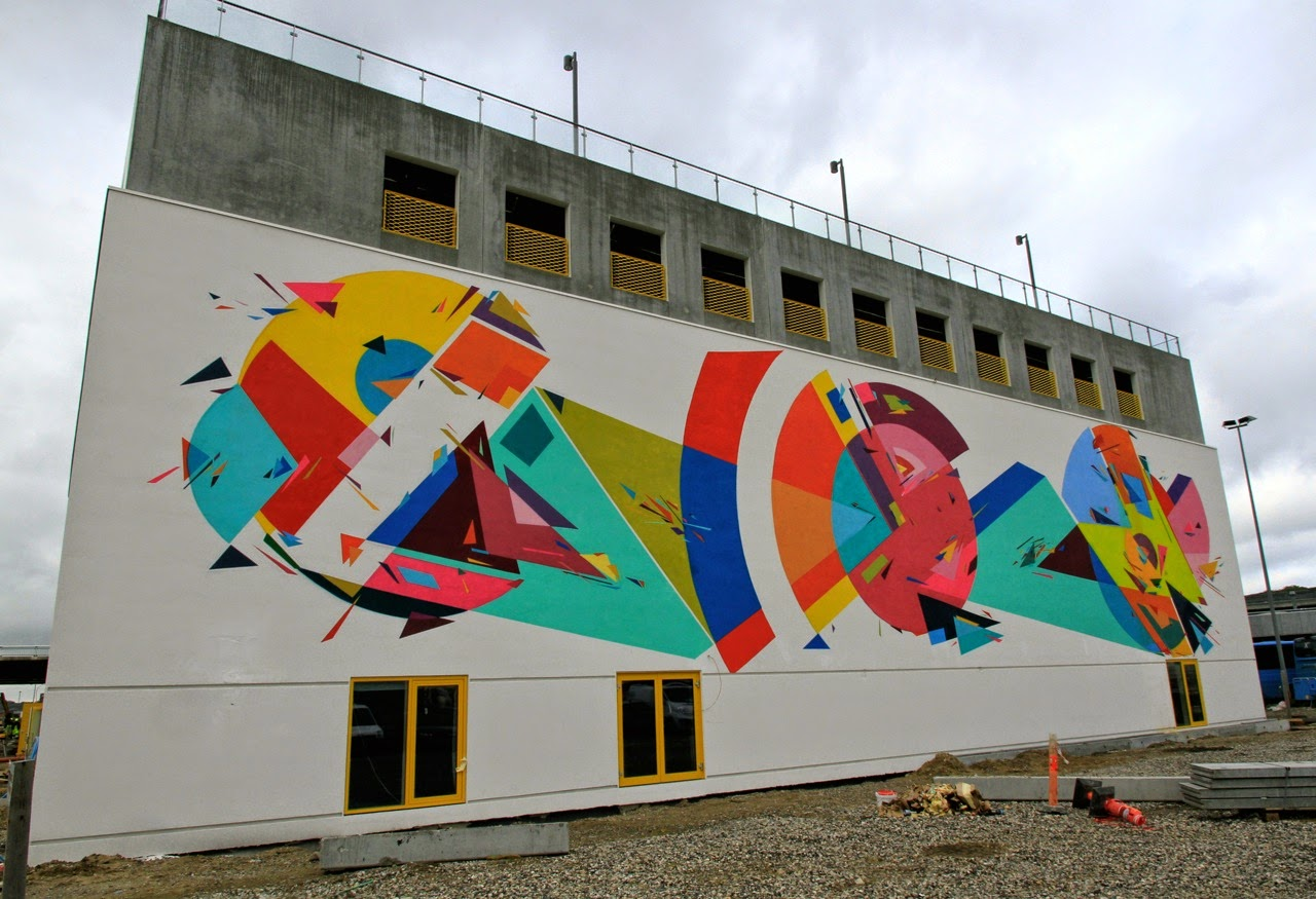 Kenor Martinez is also in Aalborg, Denmark where he just finished working on this beautiful and vibrant new piece for the We Aart Festival.