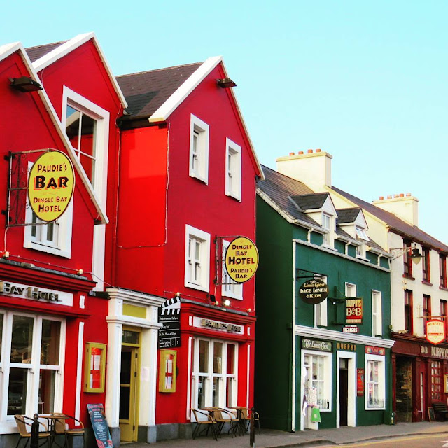 St. Patrick's Day Weekend on Dingle Peninsula - Colorful buildings of Dingle Town