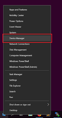 Klik Device Manager pada Windows Logo
