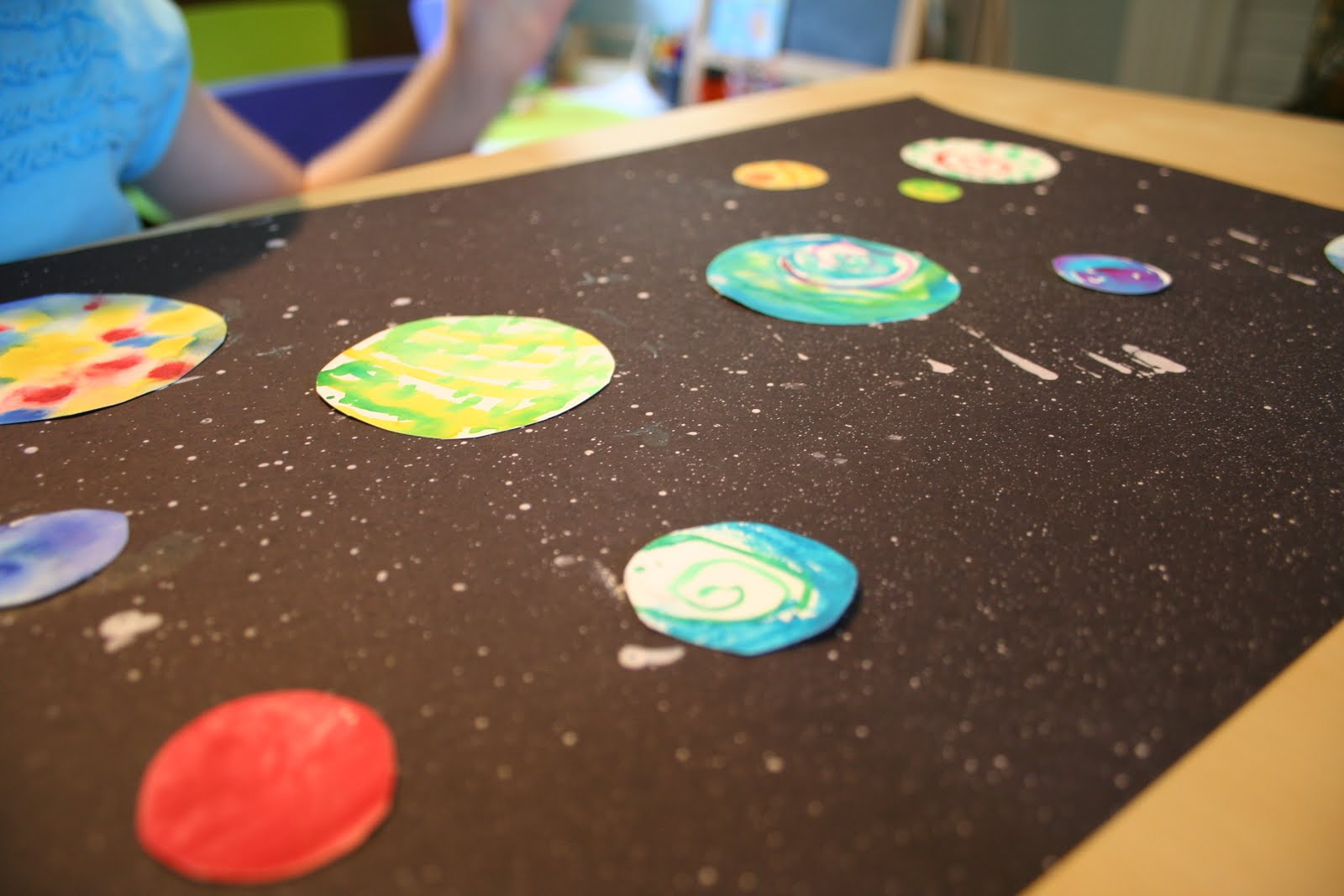 Pink and green mama splatter paint and watercolor outer for Outer space designs norwich