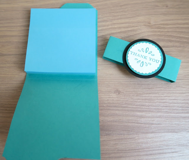 Envelope punch board post it note holder by Stampin Up