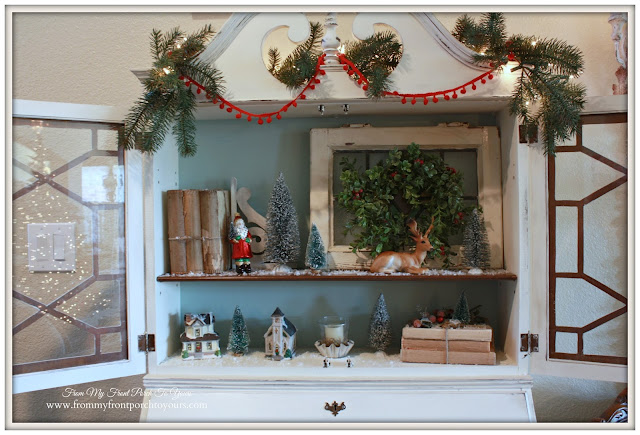 Farmhouse Vintage Christmas-Duck Egg Chalk Paint-A Merry little Christmas- From My Front Porch To Yours
