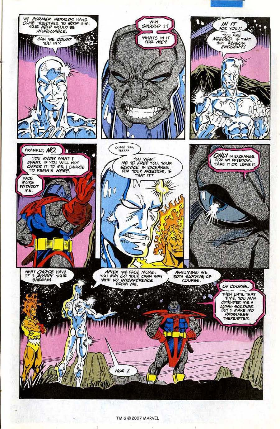 Read online Silver Surfer (1987) comic -  Issue #74 - 23