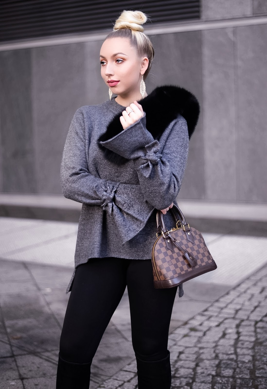 high bun_top bun_zara knit_oversized sweater_winter outfit_fashionblogger europe