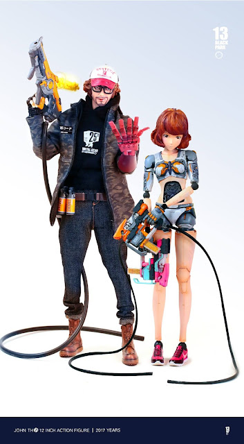 osw.zone Black 13 Parks 1 / 6. Scale Otaku Fantasy War Fujita San and Youko 12-inch action figures