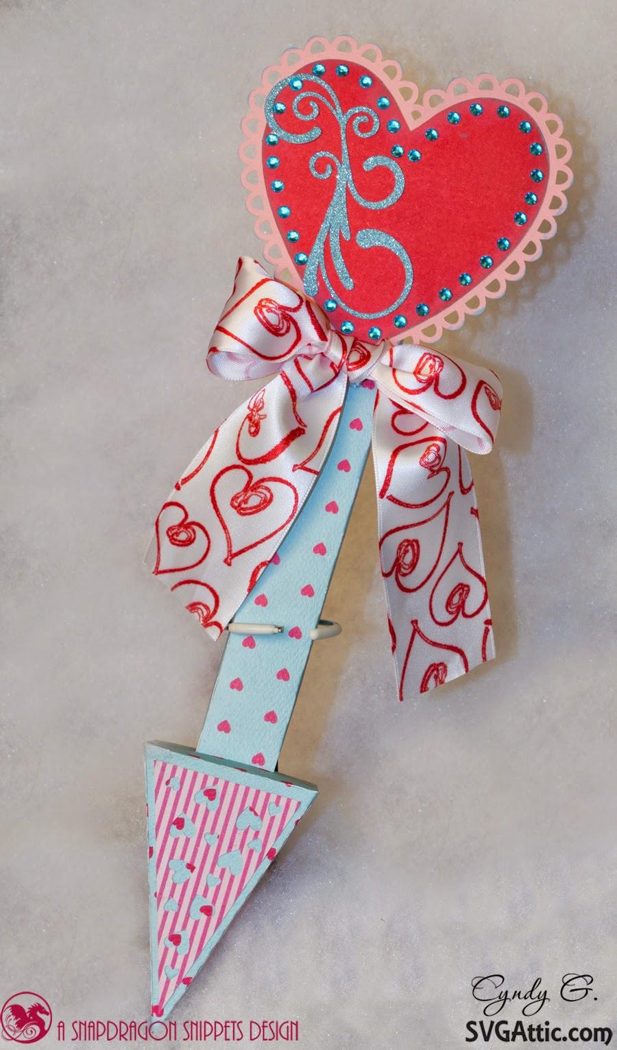 3d paper cupid's arrow