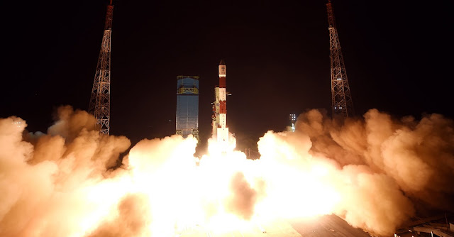 PSLV-C41 launch on April 11. Credit: ISRO