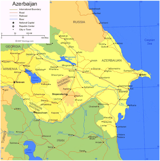 Gambar Peta Wilayah Azerbaijan