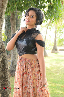 Actress Chetana Uttej Stills in Floral Long Skirt at Pichiga Nachav Movie Press Meet  0023.JPG