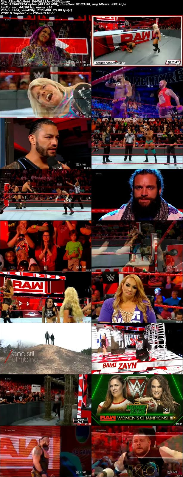 WWE Monday Night Raw 11th June 2018 Full Show 500MB HDTVRip 480p x264 2