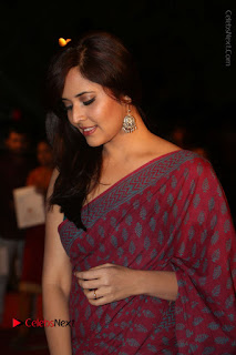 Telugu Television Anchor Anasuya Stills in Saree at Gemini TV Puraskaralu 2016 Event  0043.JPG