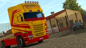 Bedworth Haulage paint job for Scania RJL