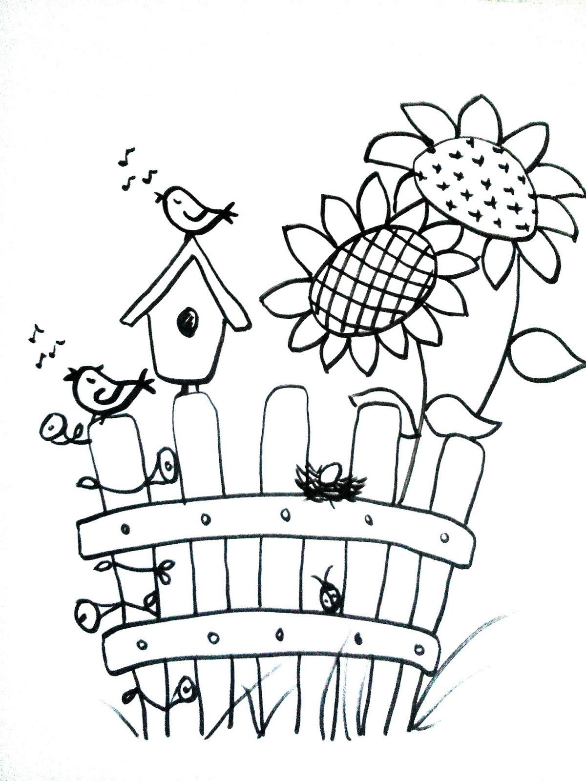 wiola's papiermomente .: ausmalbild sonnenblume