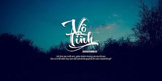 Share file PSD ảnh bìa typography Vô Tình