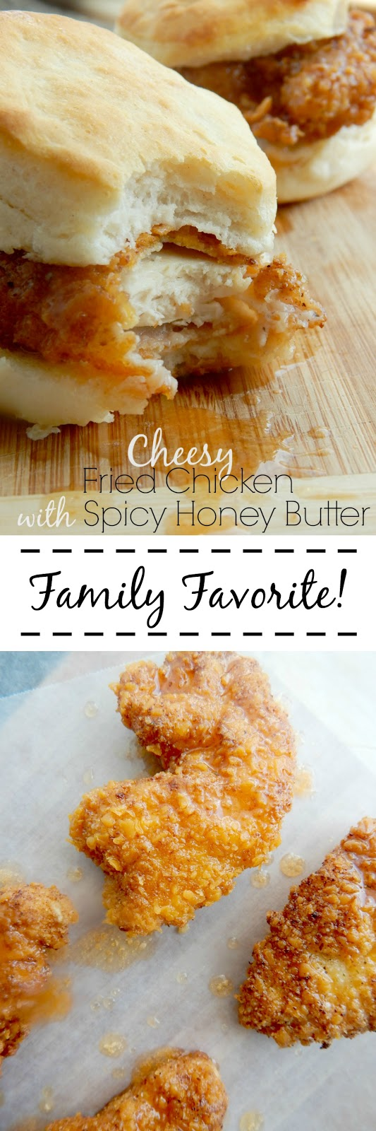 cheesy fried chicken with spicy honey butter (sweetandsavoryfood.com)