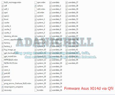 Firmware Asus X014d via Qfil