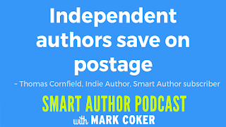 "image reads:  ""Independent authors save on postage"""