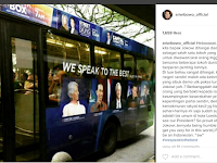 Ari Wibowo Unggah Foto Bus Di London Tampilkan Wajah Jokowi, Curhatnya Bikin Haru Netizen