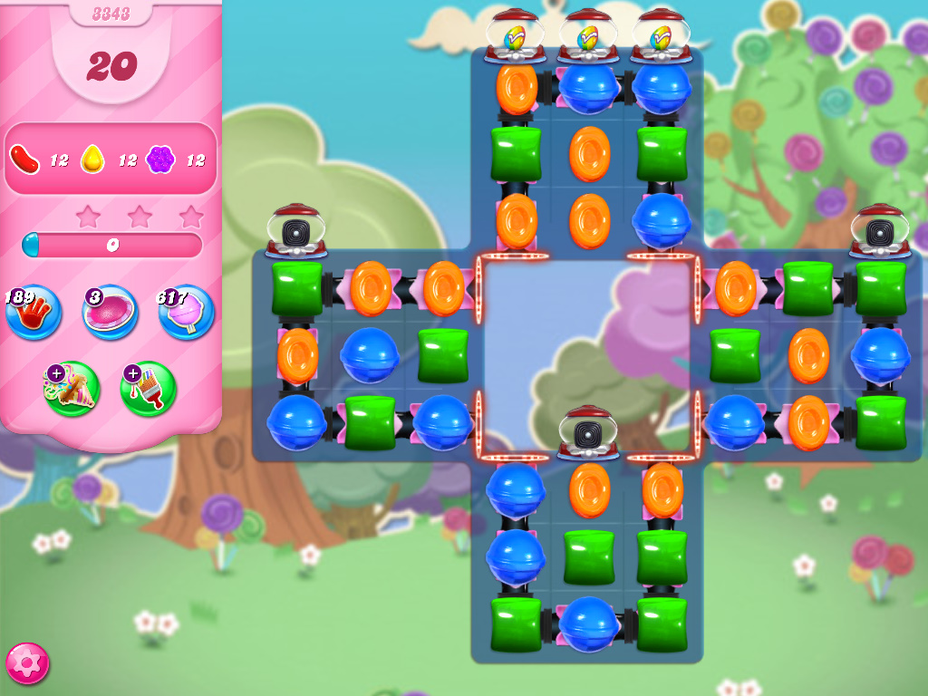 Candy Crush Saga level 3343