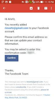 Tambahkan Email di facebook Android