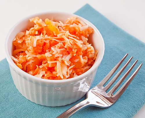 Pineapple, Coconut, and Carrot Salad