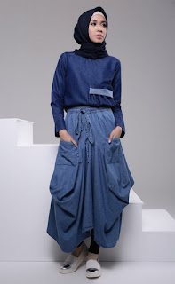 Permalink to Padu Padan Baju Muslim Modern Bahan Denim untuk Style 2017