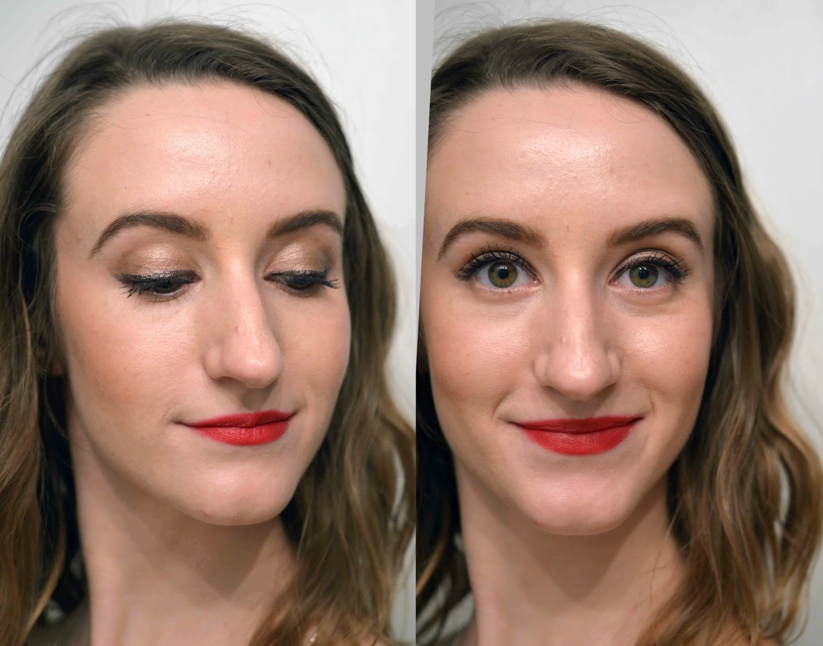 Full face of Revlon makeup