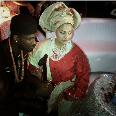 78009fcc4fd211e3911c127f85a62e1a 8 Photos from Peter Okoye and Lola Omotayos traditional wedding