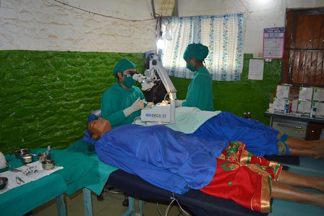 Cataract surgery in Eye camp