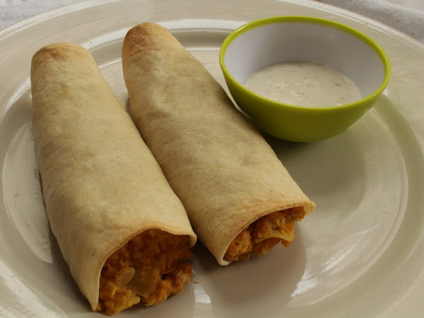 Corn tortillas are not for everything (Vegan Buffalo Chickpea and Artichoke Taquitos with Cashew Cheese)