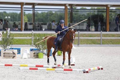 Ton Duivenvoorden tijdens Working Equitation wedstrijd op de Horman Days 2017 te Kronenberg