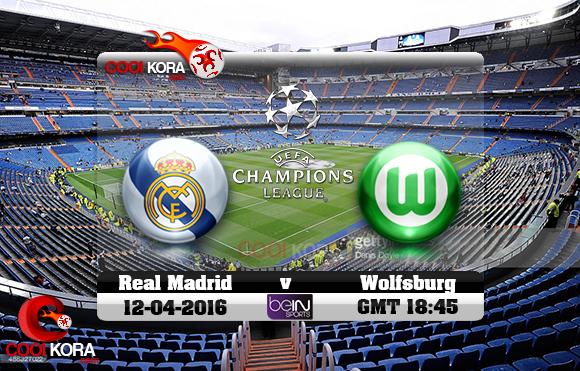 مشاهدة مباراة ريال مدريد وفولفسبورج اليوم 12-4-2016 في دوري أبطال أوروبا
