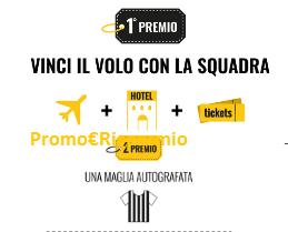 Logo Vinci gratis la trasferta con la Juventus e maglia autografata