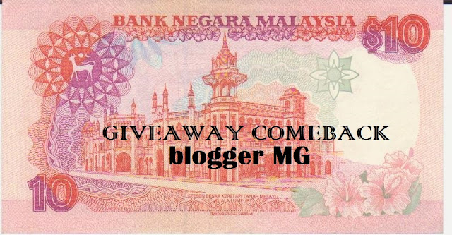 GIVEAWAY COMEBACK CASHMONEY BY MG