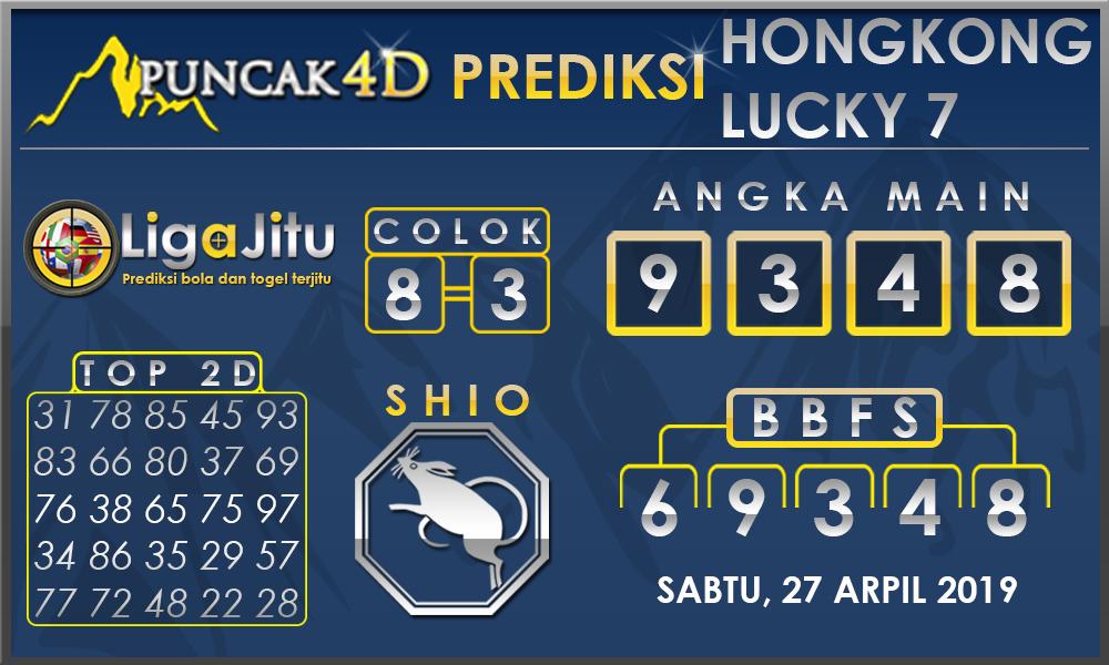 PREDIKSI TOGEL HONGKONG LUCKY7 PUNCAK4D 27 APRIL 2019