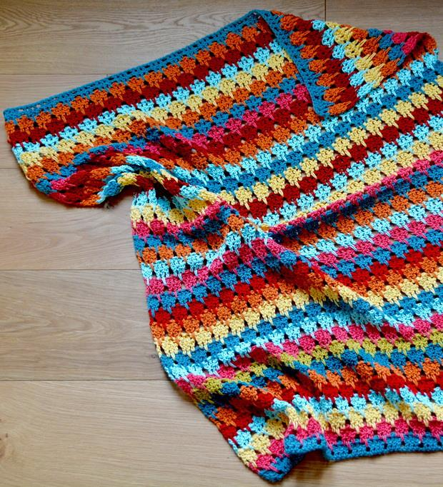Free Larksfoot Crochet Stitch Blanket