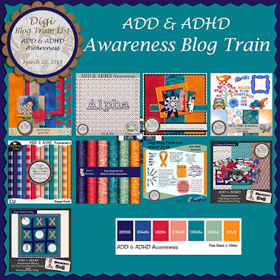 Digi Blog Train List ADD & ADHD Awareness Freebie