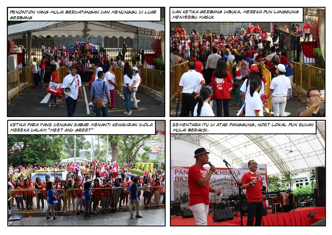 Suasana di Halaman Depan KBRI Singapura