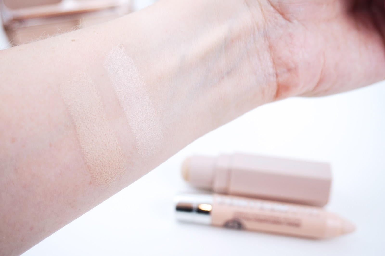 Fenty beauty technic cosmetics concealer swatch