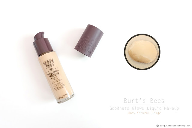 Burt's Bees Goodness Glows Liquid Makeup Foundation in 1025 Natural Beige Review