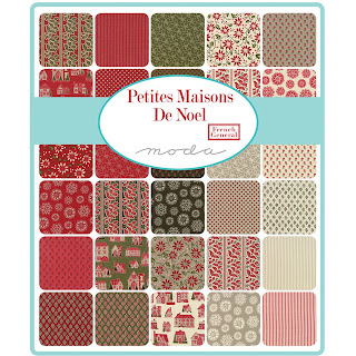 Moda Petites Maisons de Noel Fabric by French General for Moda Fabrics