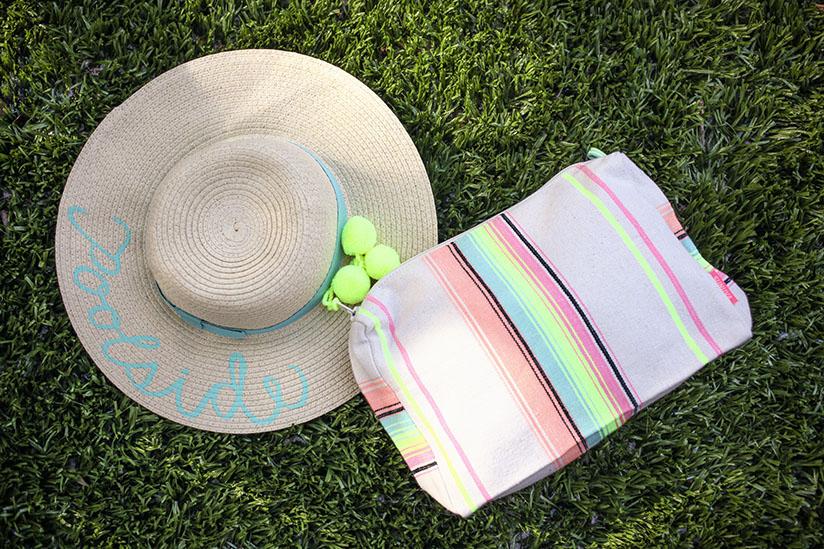 Striped multi colored wash bag by sunuva