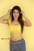Cute Telugu Actress Shunaya Solanki High Definition Spicy Pos in Yellow Top and Skirt  0479.JPG