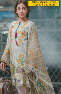 Rang Rasiya Summer Carnation Luxury Lawn 2017 Collection