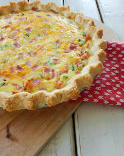 Easy ham and cheese quiche 2