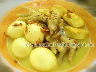 Bumbu kuah opor sering kali dipakai dalam bermacam-macam kuliner di Indonesia RESEP OPOR TELUR TAHU CEKER